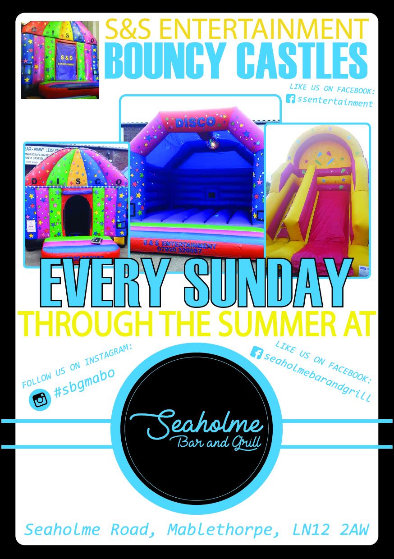 Bouncy castle flyer font outlined